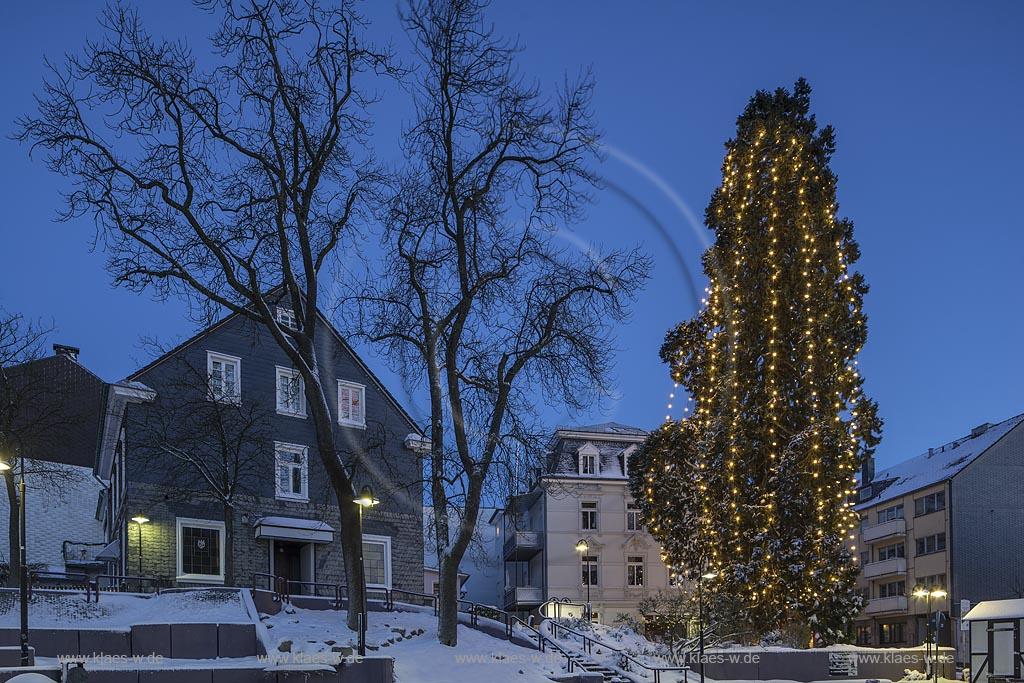Höchster Weihnachtsbaum Deutschlands.Wermelskirchen