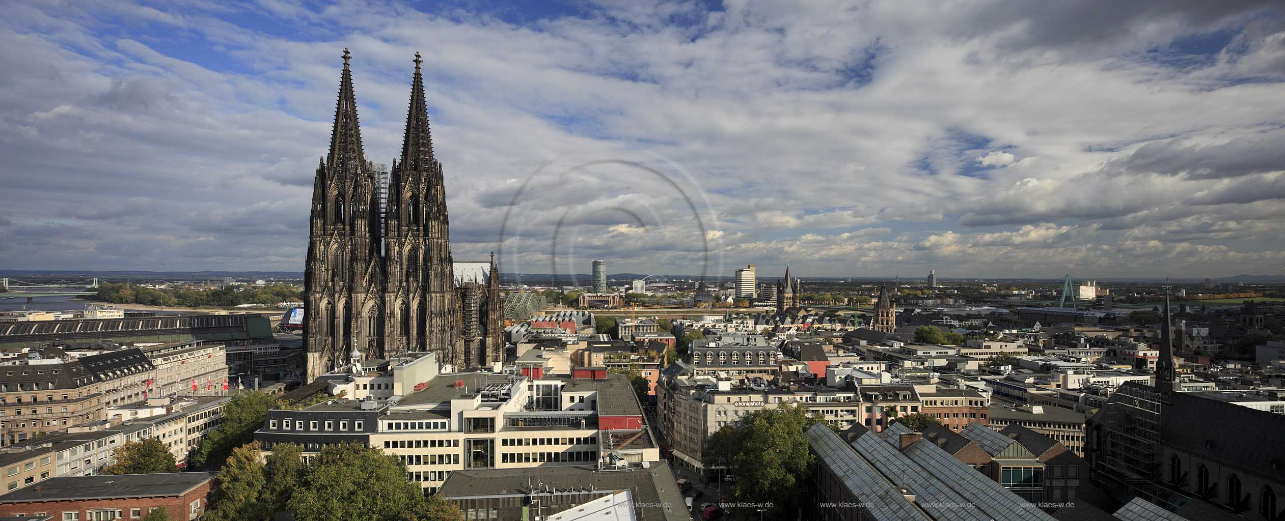 Cologne view over cologne city with the cathedrale rhine river