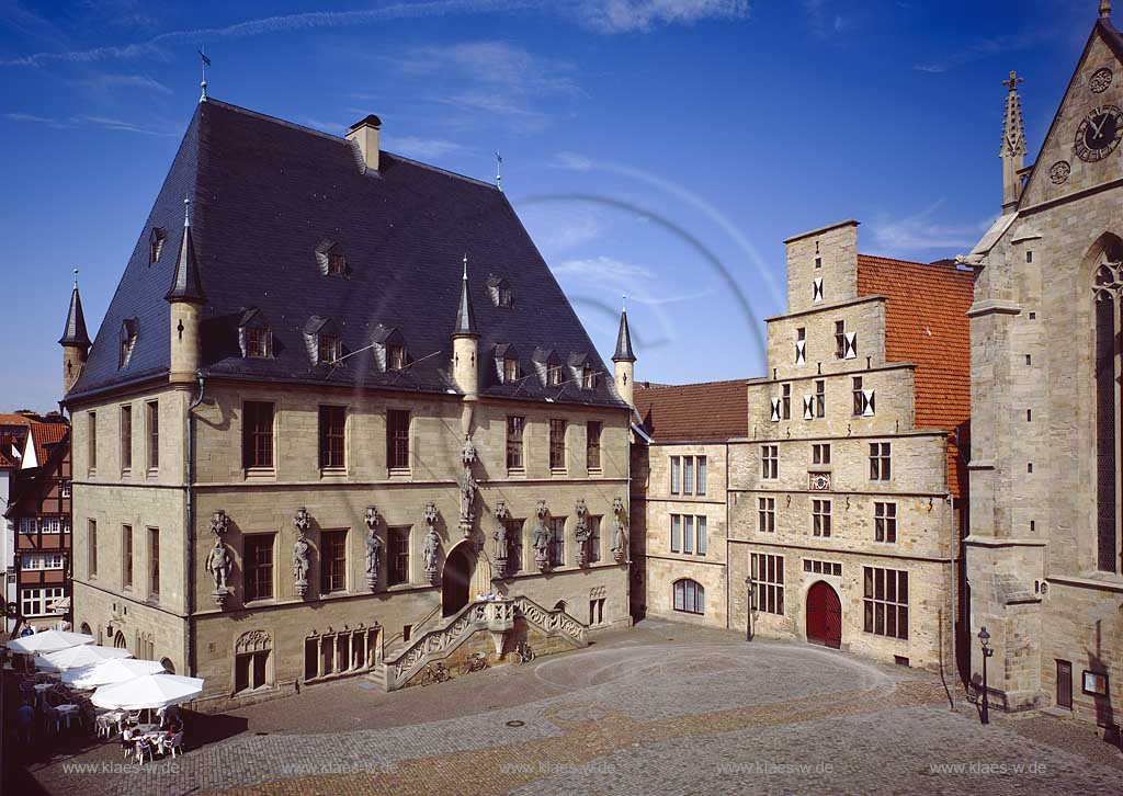 Blick vom Markt zum Osnabrücker Dom. Scan vom Dia. - Staedte-fotos.de